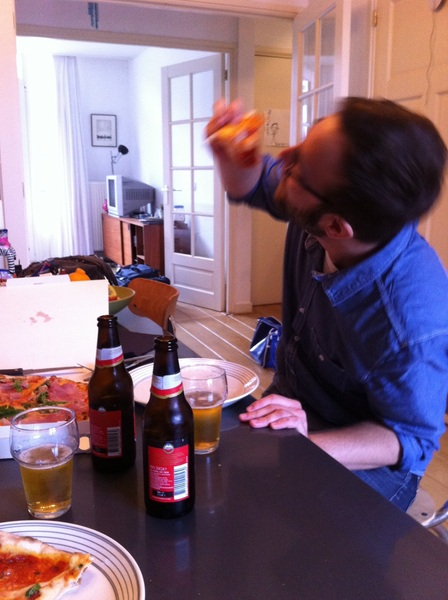 web design, pizza and beer with @dreikelvin, joy!