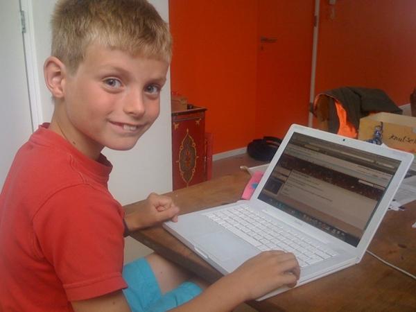 Junior personal branding; working on website www.pietvanzwieten.nl