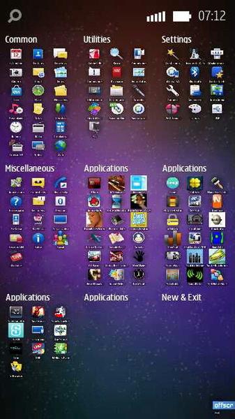 #grid otimo menu de apps para symbian. Muito bom para encontrar apps insalados. #n8