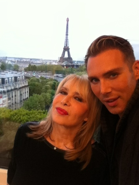 Me & Connie in Paris...in @MariahCarey's suite discussing how I haven't worked w @TheRealFayeDunaway yet