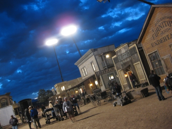 Filming nights on Cowboys & Aliens.