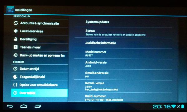 #ICS (officieel) op mijn nieuwe tablet =) #papablij