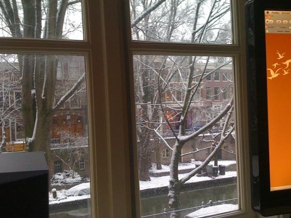 Ook even ochtendje thuiswerken, kon een slechter uitzicht hebben :)