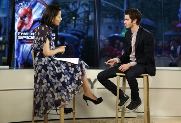Ann Curry in @JasonWu interviewing Andrew Garfield on the Today show
