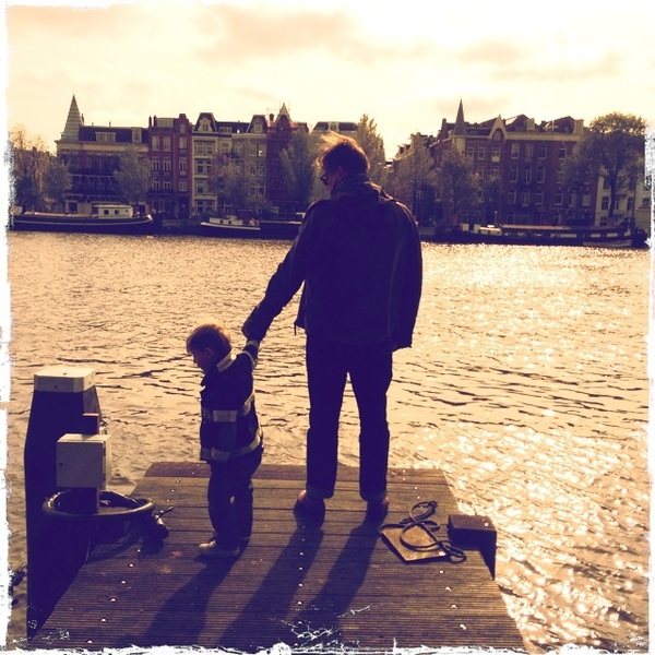 Checking out the Amstel River