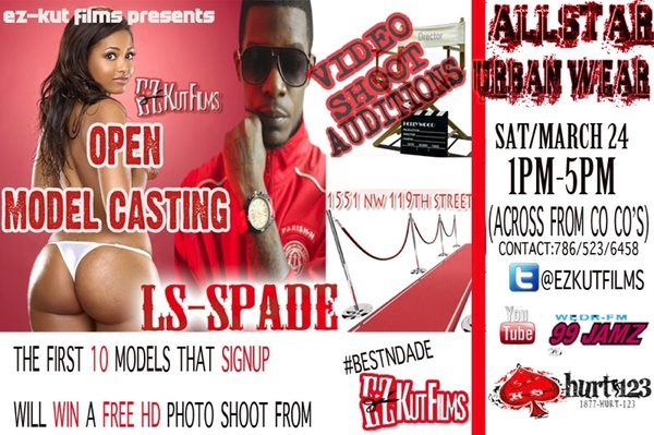 ALL MODELS Need A Free PhotoShoot 3/24 1-5pm #AllStarUrbanWear (Across 4rm CoCos Upcoming vid ~ http://j.mp/wfuy1c