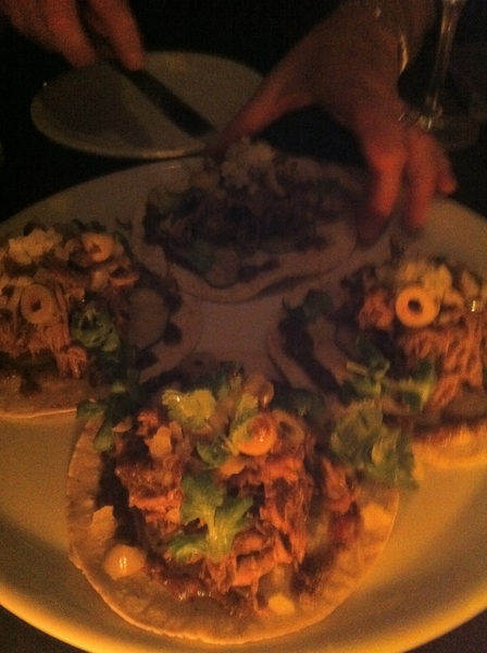 After Awards,r group was treated2delish ceviches, masa creations, tacos&beautiful desserts @AlexStupak Empellón!