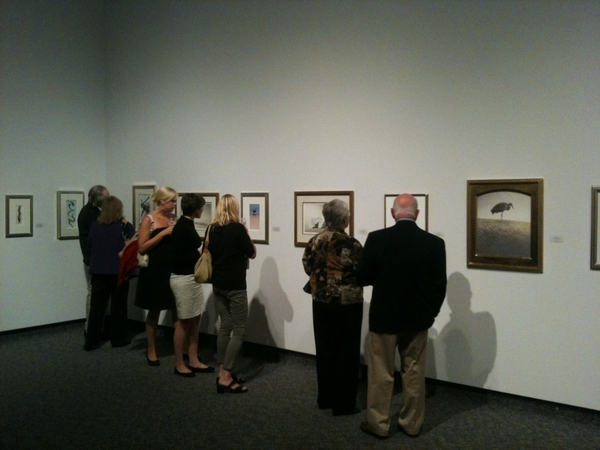 Opening nite. Artist Chris Bacon exhibition, Burlington Art Centre. Extraordinary realism & feeling in his paintings.