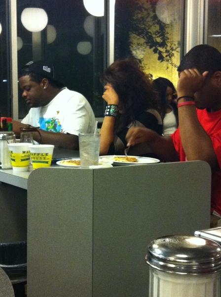 Waffle house lol  @PrettyyinINK drunk af.  @astronash713 and  @KloudySkies observing