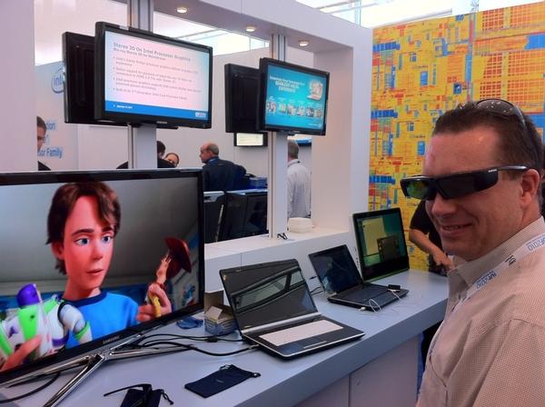 3D Shades  stylin' #IntelInsiders @HighTechDad trying out future Intel Core (Sandy Bridge) processor magic #IDF10