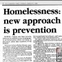 You know that 'new' approach to #homelessness called prevention? Yeh, check out this newspaper article March 1989.