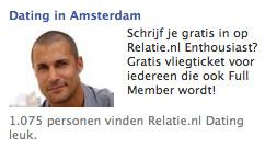 We all know who he is. En ik kan met 100% zekerheid zeggen dat ik hem niet op Relatie.nl Dating tegen ga komen...