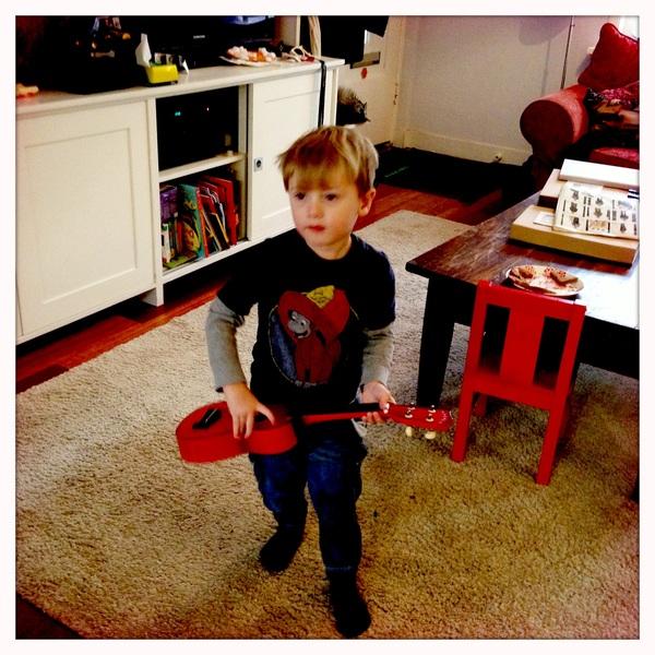 Fletcher of the day: Rockin the ukulele