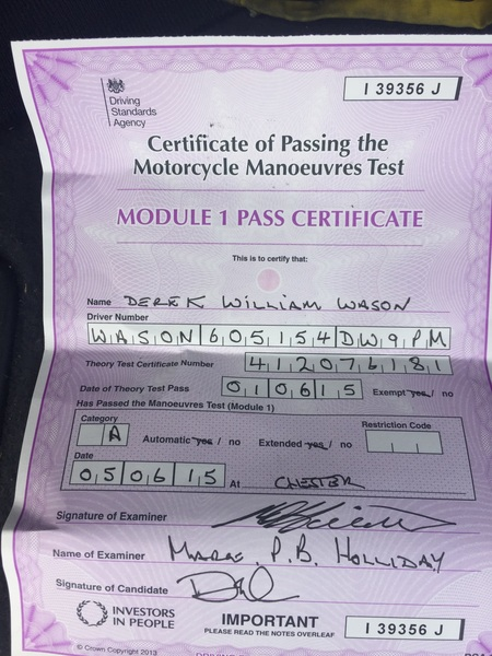 Only went and passed!