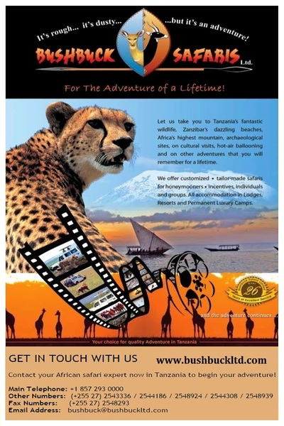 Tanzania Tours and Safaris by Bushbuck Safari Ltd
