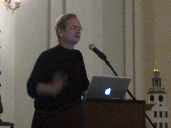 Laurance lessig speaks in nantucket on corruption of congres. Why did obama fail? #ll