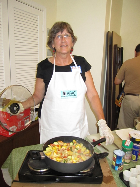 Yummy smells coming from our cooking demo today-Need a volunteer chef this Friday 930am-Noon Contact volunteer4afac@afac.org