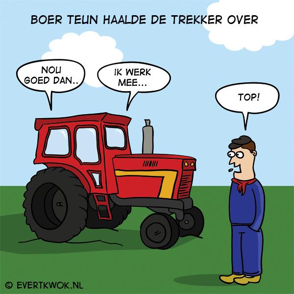 Boer Teun haalde de trekker over #cartoon