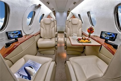 Top BeechCraft Premier 1A Interior Private Jet Air Charter Flight