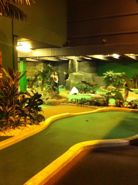 So excited to be playing crazy golf