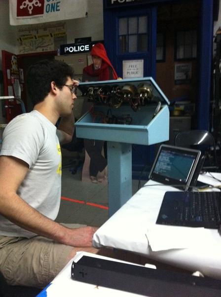 @toba at #psone312 is an apprentice time lord. TARDIS repair 101.