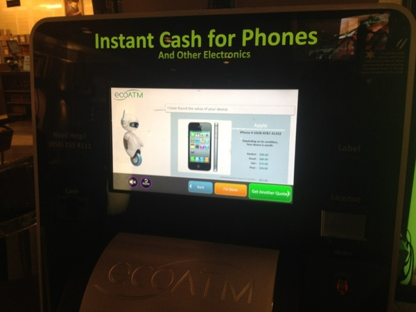 Great to see a startup I interviewed two years ago at #DEMO now in malls across the USA @ecoatm