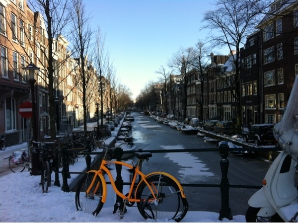 Magic bike #bloemgracht #winter