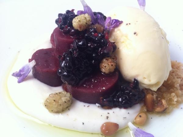 Baja Tasting Menu starts 2nite:Blackberry tamal de masa cocida,hmade ricotta,Baja olive oil ice cr(rosemary scent)