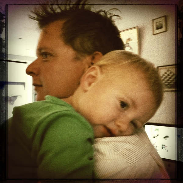 Fletcher of the day: Daddy is home