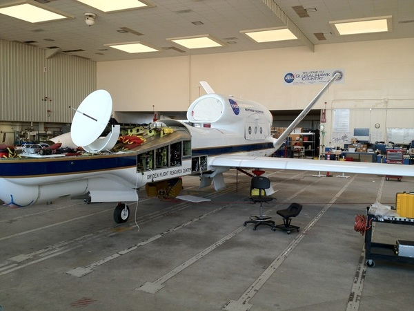 Global Hawk is an unmanned aircraft that NASA is using for weather and hurricane research in the Atlantic #NASASocial
