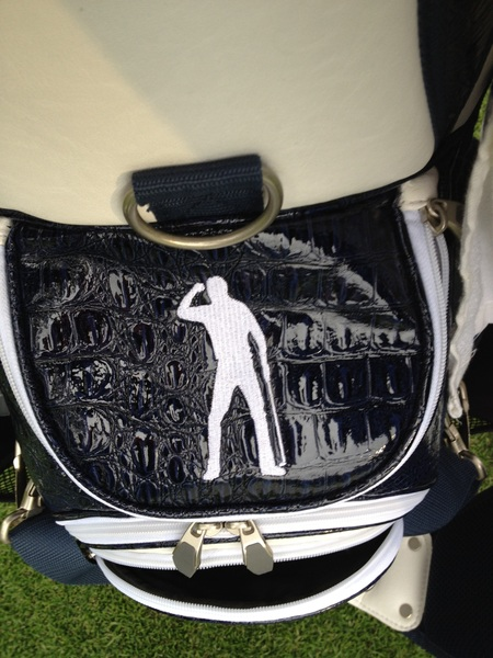 Nice touch using Seve's image on our golf bags this week.   #RyderCup #TeamEurope