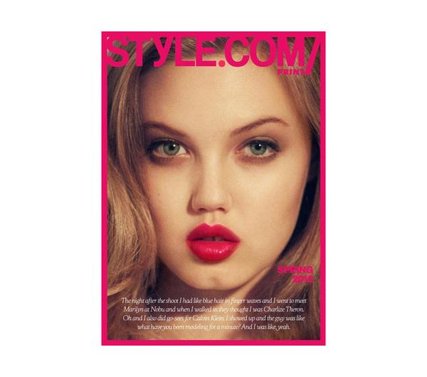 De allereerste cover voor Style.com Magazine is uitgelekt! Lindsey Wixson is Style' 1ste covergirl