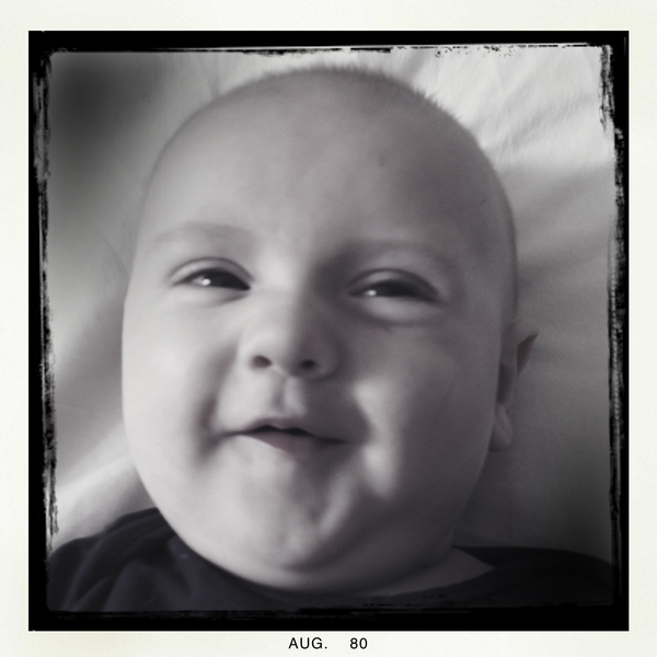 Fletcher of the day: a grin for Uncle Jason's birthday