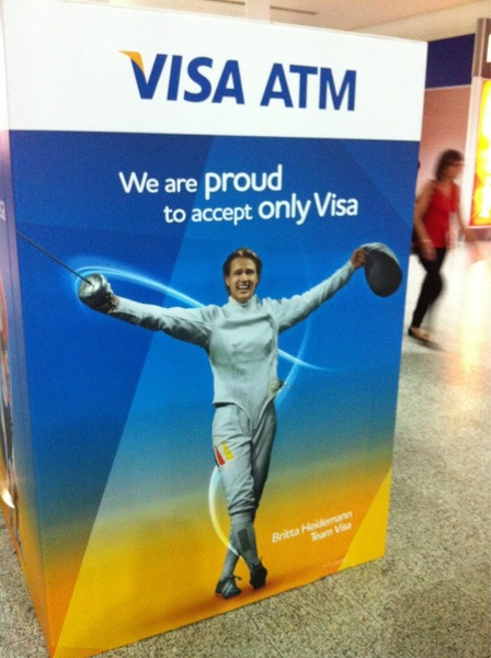 #Olympic cash: We are proud to accept only #Visa. Can not think of a more negative pay-off @Trefpunt10 #London2012