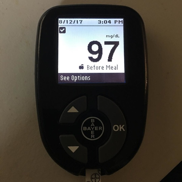First time I've seen my #bgnow below 100 mg/dL in ages. #Diabetes #T2D