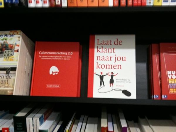 Bij Scheltema samen op de plank #Calimeromarketing - Karin Romme en Laat de klant naar jou komen - Erno Hannink