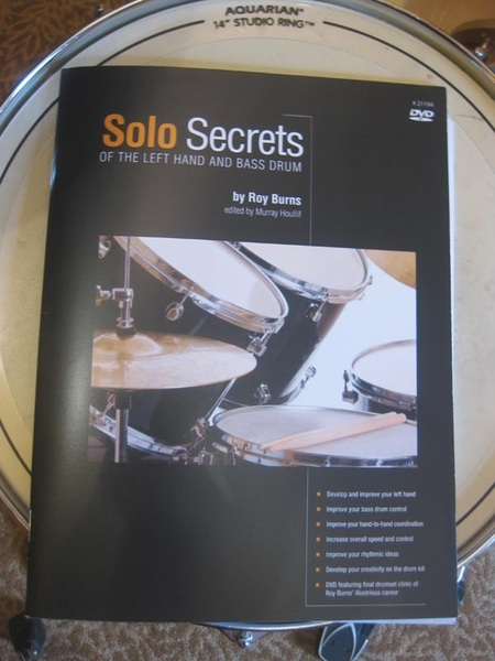 """My drumming mentor and friend Roy Burns sent me his new book """"Solo Secrets Of The Left Hand And Bass Drum"""""""