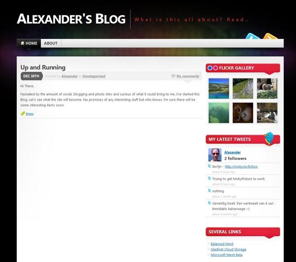 Alexander's Blog online