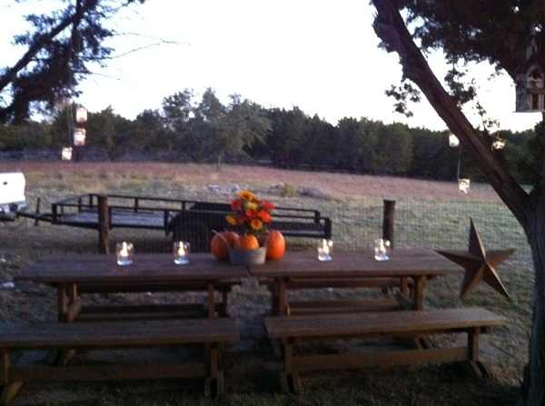Thanksgiving at the ranch. I love this place! Made these great lanterns!!