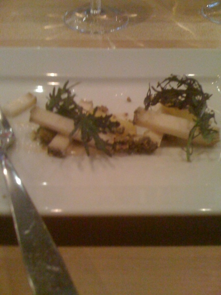 Aged goat cheese an compressed pineapples