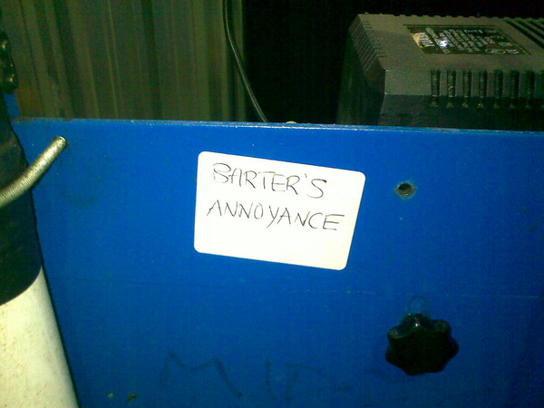 - Got this label on our cask lifter, has it been bothering @jimbarter I wonder?