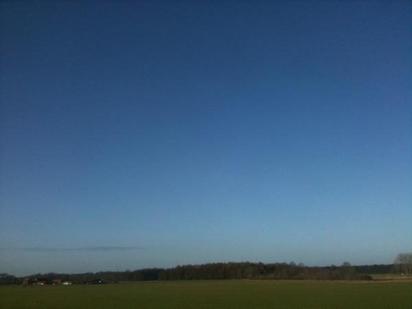 Prachtige dag, strak blauwe lucht! #zon