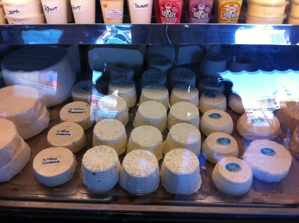 Tijuana mkt: I am wild about Produmex cheese stall. Most of Mexico's best cheeses can be found here!