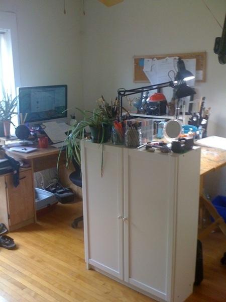 Pic of my studio from the door.