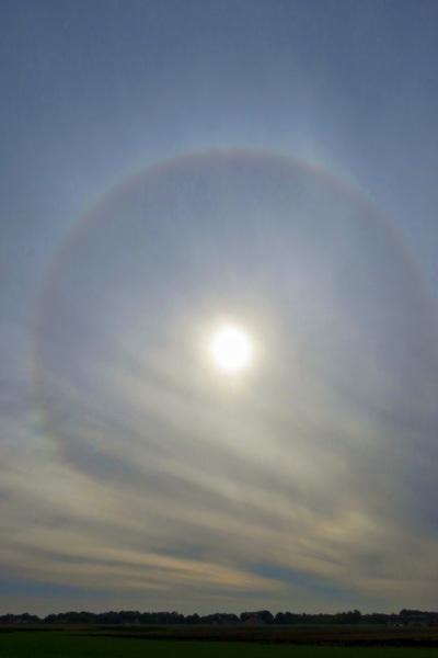 Zonne-halo boven Gaasterland #buienradar