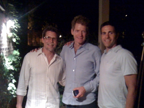 Robbie Ventura (r), Bryan Rheude, me after perfect eve of gr8 food,perfect wine,lively conversation. Gr8 folks!