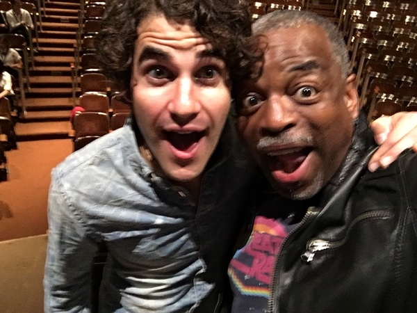 With @umich royalty... @DarrenCriss  #teamstarkid