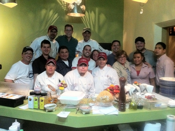 I couldn't be happier. Hotel California chef Dany made our whole crew a gr8 meal! Our crew w his kitchen staff.