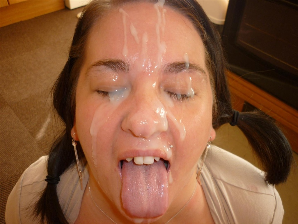 Girls with cum on their faces