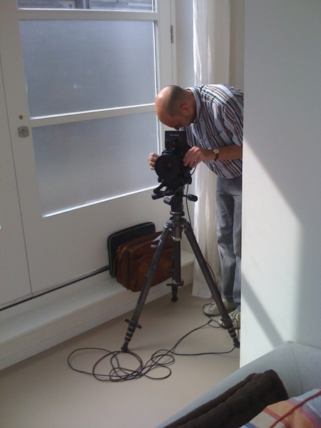 Phorographer Louis taking prof pictures of our house for a lifestyle magazine
